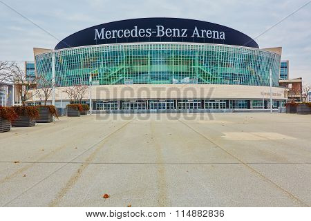The Mercedes Benz Arena in Berlin is a multipurpose arena