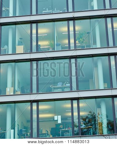 window of the multi-storey building