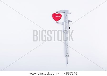 slide gauge and red heart