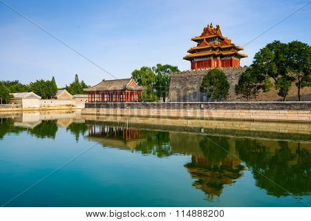Forbidden City moat of Beijing, China.