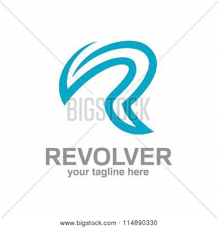 Letter R Logo Template. Simple And Clean Design Of Letter R Logo Design Vector.