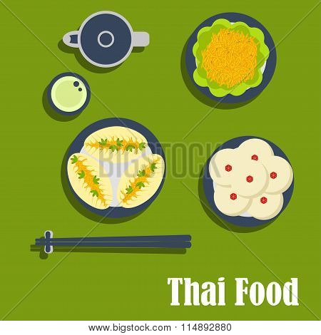 Asian lunch of thai cuisine