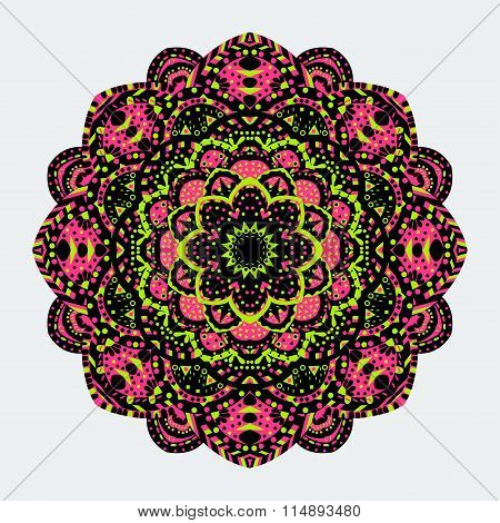 Mandala. Vintage Decorative Elements. Vector Illustration