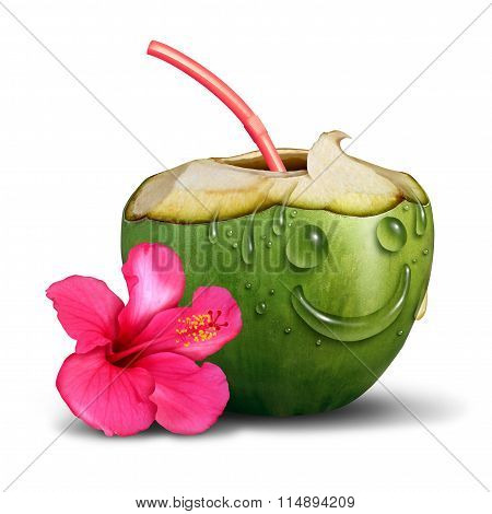 Happy Tropical Drink Concept