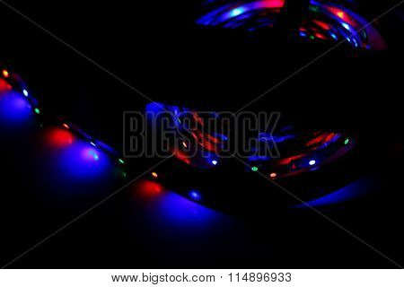 Led lights on the table