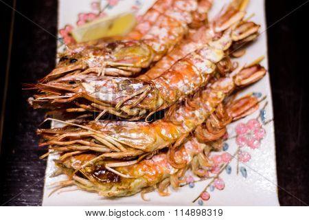 Japanese grill prawns.