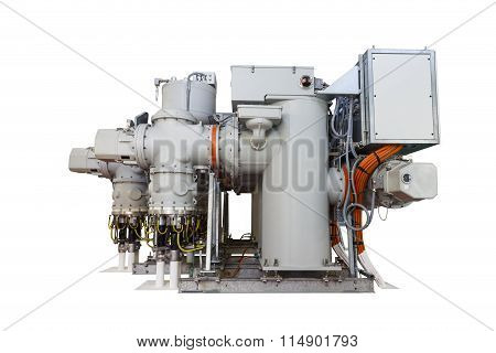 Isolated Gas Insulated Switchgear (gis) On White