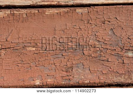 Brown Old Painted Wooden Wall Texture As Background