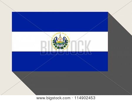 El Salvador flag in flat web design style.
