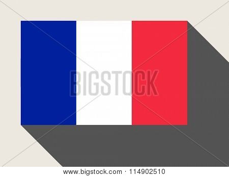 France flag in flat web design style.