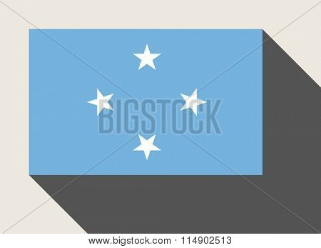 Federated States of Micronesia flag in flat web design style.