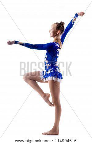 Happy Acrobat Girl Dancing