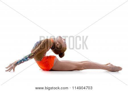 Girl Doing Backbend Acro Exercise