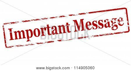 Rubber stamp with text important message inside vector illustration