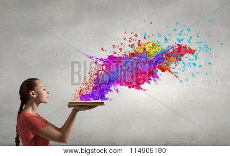 With books your imagination running wild