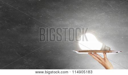 Serve idea on tray