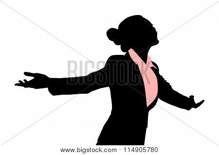 Silhouettes Of Business Woman