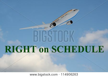 Right On Schedule Concept