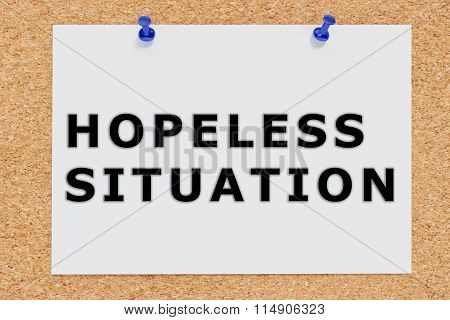 Hopeless Situation Concept