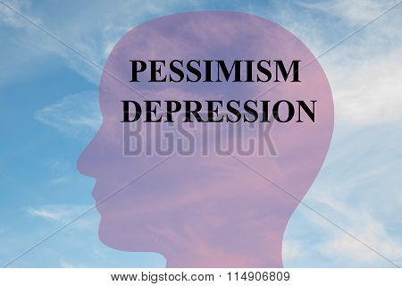 Pessimism Depression Concept