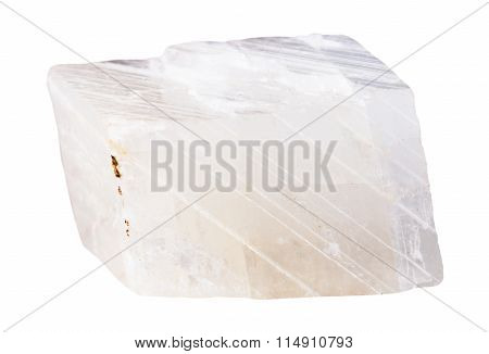Piece Of White Calcite Mineral Stone