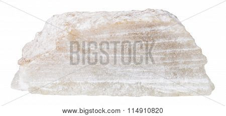 Block Of Talc Mineral Stone Isolated