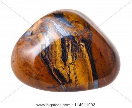 Tigers Eye ( Tiger Eye) Gemstone Isolated