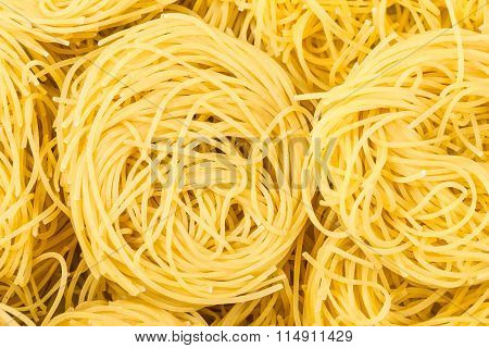 Nests Of Durum Wheat Semolina Pasta Fidelini