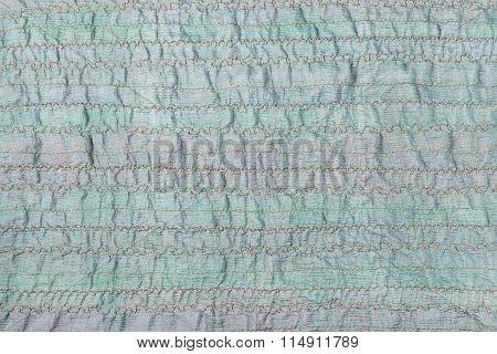 Stitched Green Fabric