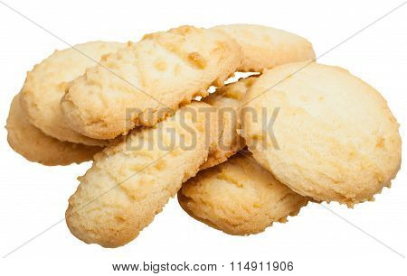 Several Sweet Shortbread Cookie Isolated