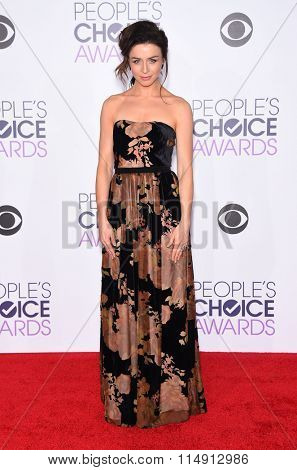 LOS ANGELES - JAN 06:  Caterina Scorsone arrives to the People's Choice Awards 2016  on January 06, 2016 in Hollywood, CA.