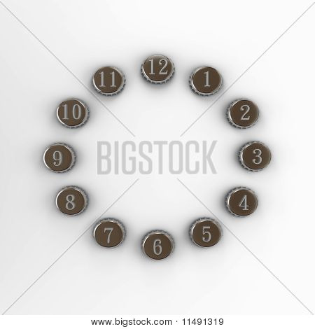 Dial of a clock