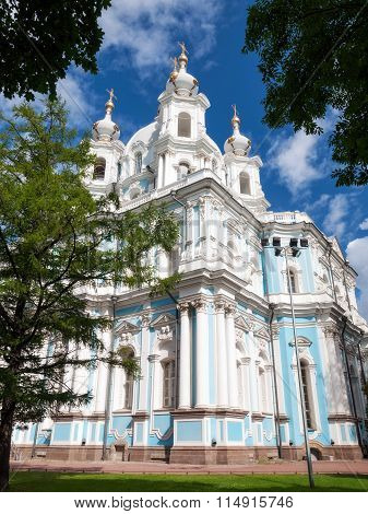 Smolny Cathedral in Saint-Petersburg