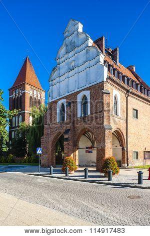 town hall of Paslek, Warmian-Masurian Voivodeship, Poland