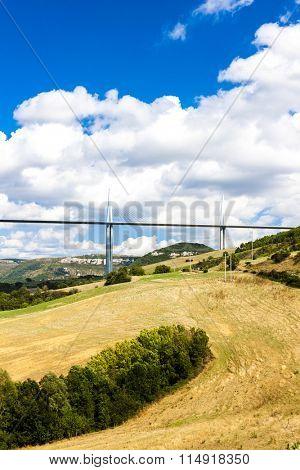 Millau Viaduct, Aveyron, Midi Pyrenees, France