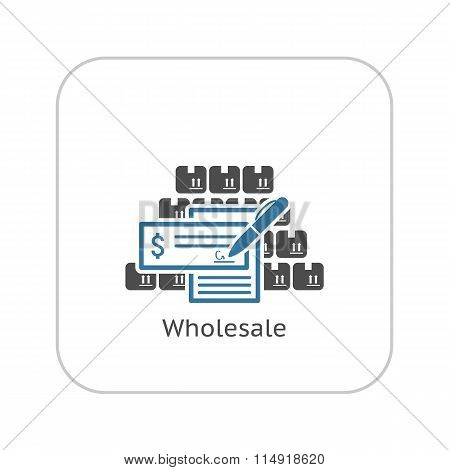 Wholesale Icon. Flat Design.