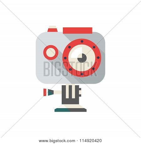 Action Camera Vector Illustration,  Extreme Video Cam Symbol In