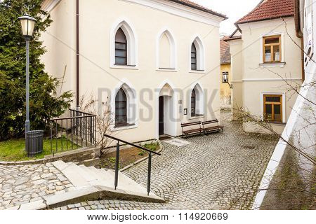 Front synagogue, Jewish Quarter, Trebic, Czech Republic