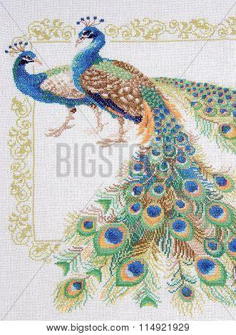 Embroidery cross-stitch