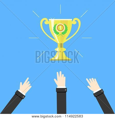 Competition. Business Concept Vector Illustration.