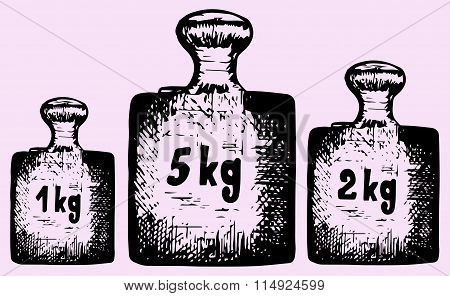 old calibration weights