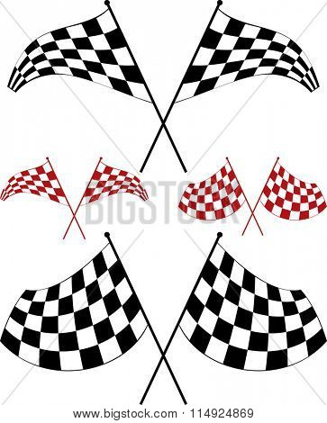 Race Flag Various Designs, Vinyl Ready Vector Illustration