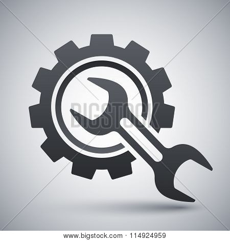 Service Icon, Stock Vector