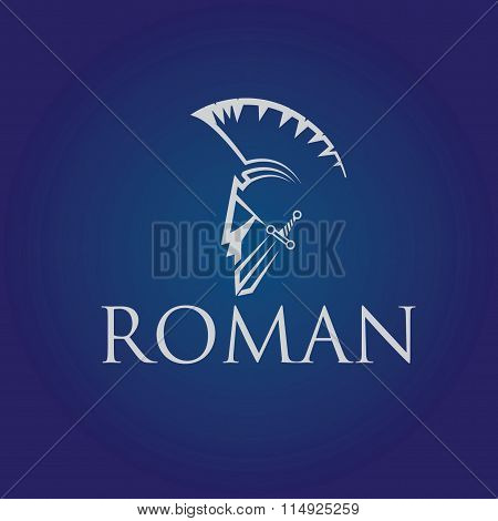Old Vintage Antiques Roman Warrior  Vector Design Template