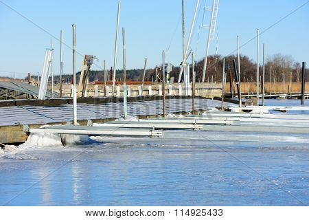 Marina In Winter