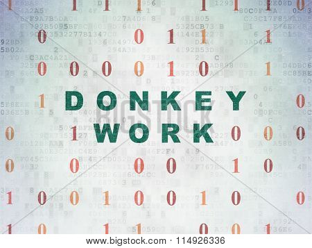 Business concept: Donkey Work on Digital Paper background