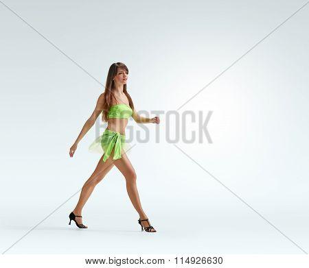 walking Graceful girl dance