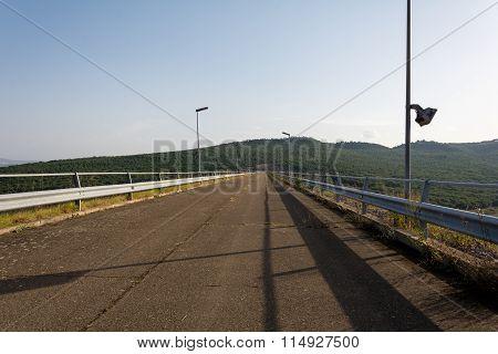 Bridge Dam In Genzano Di Lucania. Italy.