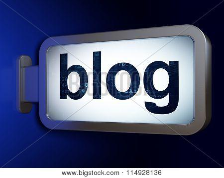 Web design concept: Blog on billboard background