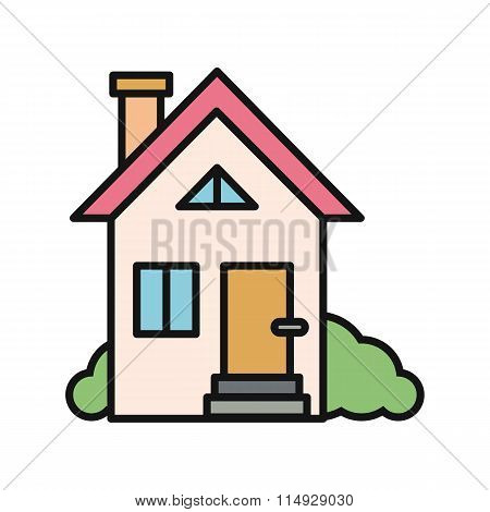 House Icon on White